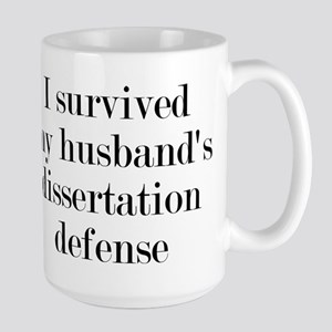 My Husband's Dissertation Defense Large Mug