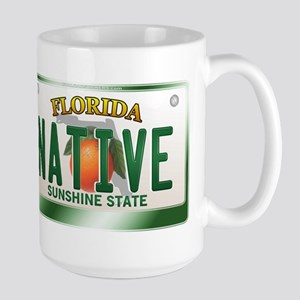 """NATIVE"" Florida License Plate Large Mug"
