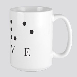 Love in Braille Large Mug