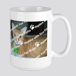 CUSTOMIZE Add 2 Photos Large Mug