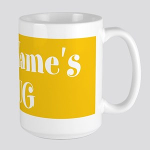 YELLOW Personalized Large Mug