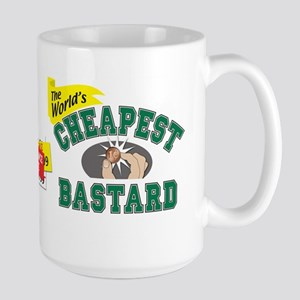 World's Cheapest Bastard Large Mug