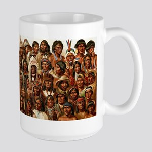 Tribes of many faces Mug - Large