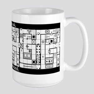 Dungeon Map Marker Large Mug