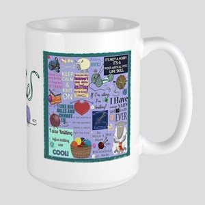 Knitters Large Mug Mugs