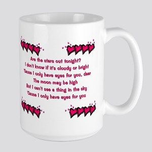 I Only Have Eyes for You Vale Large 2-sided Mug