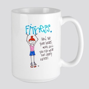Motivation to Exercise 15 oz Ceramic Large Mug