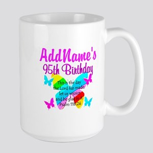 95th Birthday Party BLESSED 95TH Large Mug