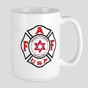 Jewish FireFigher Large Mug