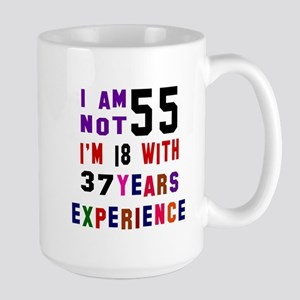 55 Year Old Birthday Designs Large Mug