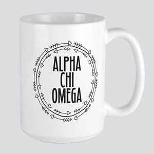 Alpha Chi Omega Arrows 15 oz Ceramic Large Mug