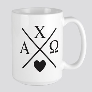 Alpha Chi Omega Cross 15 oz Ceramic Large Mug