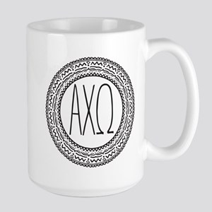 AlphaChiOmega Medallion 15 oz Ceramic Large Mug