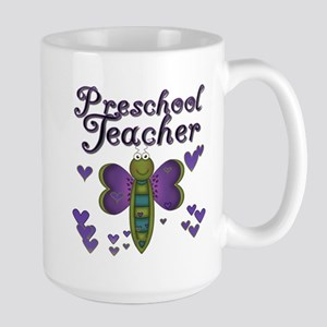 Butterfly Preschool Teacher Large Mug
