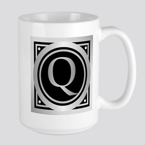 Deco Monogram Q Mugs