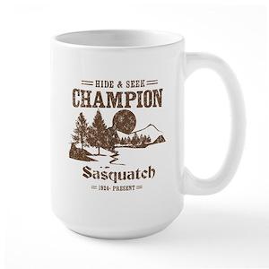 7ccf08f9 Sasquatch Large Mugs - CafePress