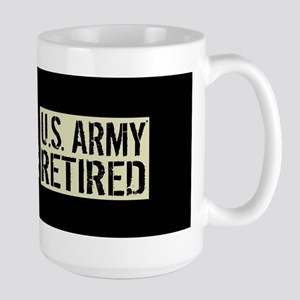 U.S. Army: Retired (Black Flag) Large Mug