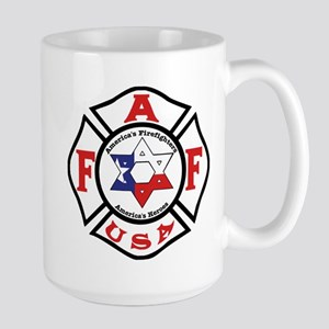 Jewish Firefighter Star Large Mug