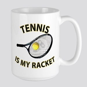 Tennis Racket Large Mug