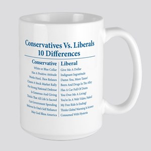 Conservatives Vs. Liberals 10 Differences Large Mu