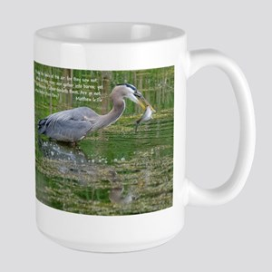 Father Feeds the Fowls Mugs