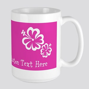 Bright Colorful Pink Neon Custom Text Large Mug