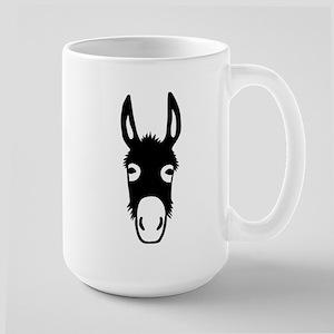 donkey mule horse ass jackass burro fool Large Mug