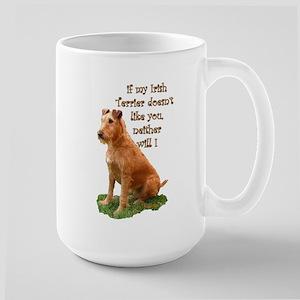 irish terrier Large Mug