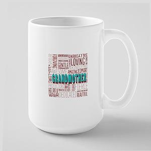 Grandmother Word Cloud Large Mug