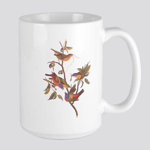 Painted Bunting Birds in Wild Olive Tree Mugs