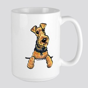 Welsh Terrier Paws Up Large Mug