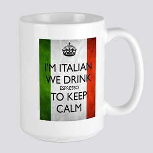 We Drink Espresso to Keep Calm Mugs