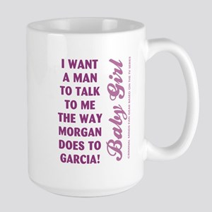 I WANT A MAN TO... Large Mug