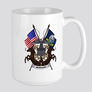 Navy Mustang Emblem Mug