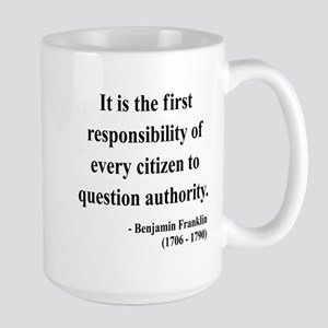 Benjamin Franklin 17 Large Mug