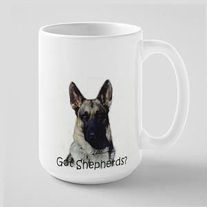 German Shepherd dog lovers Large Mug