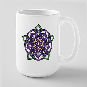 Purple Celtic Rose Large Mug