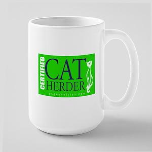 Cat Herder 2 Green web  Mugs