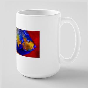 Fish Flowers Red Yellow Blue Mugs