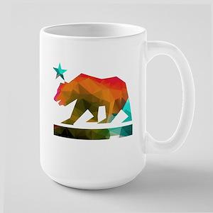 California Republic Bear (fractal design) Mugs