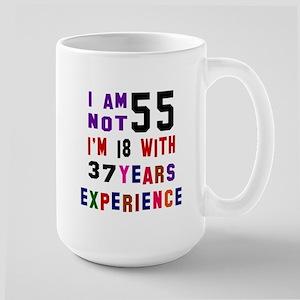 55 Birthday Designs Large Mug