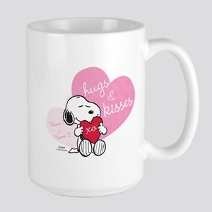 Snoopy Hugs and Kisses - Personalized Large Mug