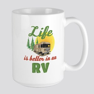 Life's Better In An RV 15 oz Ceramic Large Mug