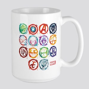 Marvel All Splatter Icons Large Mug