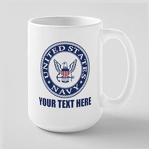 Personalized United States Navy Large Mug