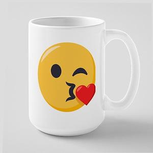 Kissing Emoji 15 oz Ceramic Large Mug