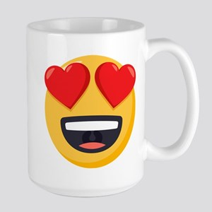 Heart Eyes Emoji 15 oz Ceramic Large Mug