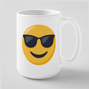 Sunglasses Emoji 15 oz Ceramic Large Mug