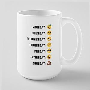 Emoji Days of the Week 15 oz Ceramic Large Mug