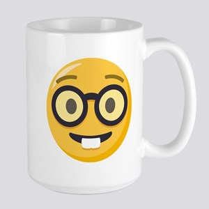 Nerd-face Emoji 15 oz Ceramic Large Mug